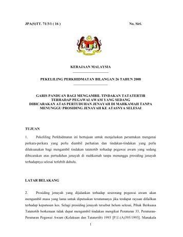 pekeliling perkhidmatan bil 26/2008 - Jabatan Pendaftar