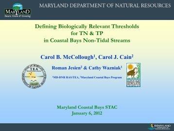 McCollough - The Coastal Bays Program
