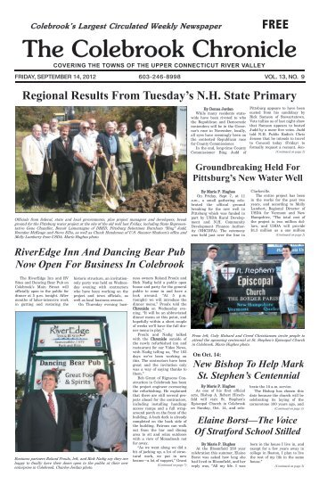 September 14, 2012 - Colebrook Chronicle