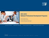 2012-2013 National Professional Development Programs