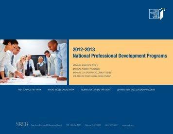 2012-2013 National Professional Development Programs