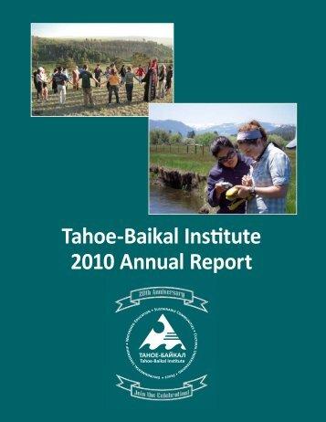Tahoe-Baikal Institute 2010 Annual Report