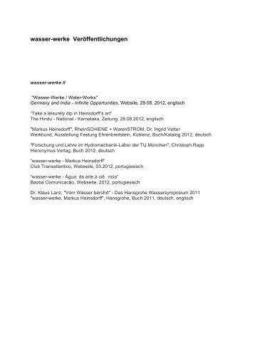 PDF englisch, deutsch, portugiesisch - Heinsdorff, Markus
