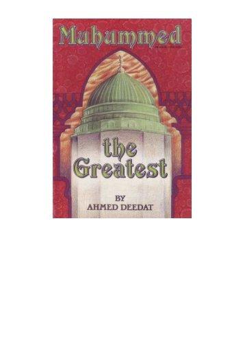 Muhammad the Greatest by Ahmad Deedat - Sultan