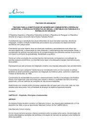 Mercosul – Tratado de Assunção - STF