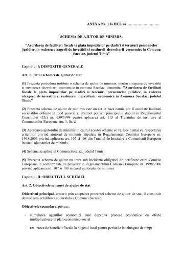 SCHEMA DE AJUTOR DE MINIMIS - Reteaua Nationala de Ajutor ...