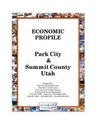 ECONOMIC PROFILE Park City & Summit County Utah