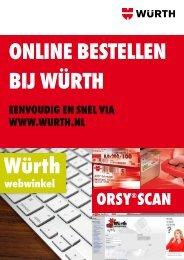 Bekijk hier de ORSY®Scan brochure - Würth Nederland