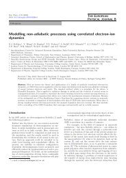 Modelling non-adiabatic processes using correlated electron-ion ...