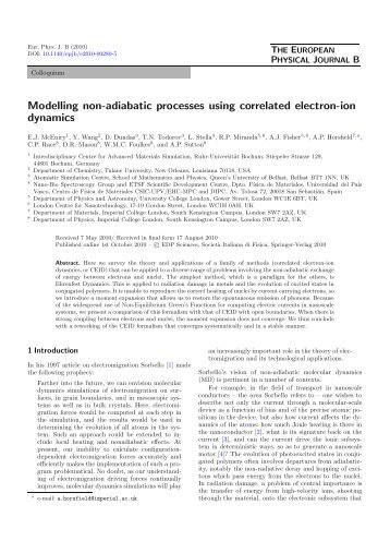 Modelling non-adiabatic processes using correlated electron-ion ...