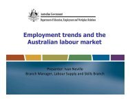 Employment trends and the Australian labour market - Local ...