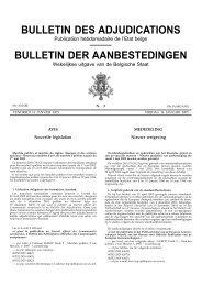 BULLETIN DES ADJUDICATIONS BULLETIN DER ...