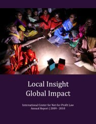 Annual Report 2009 - 2010 - The International Center for Not-for ...