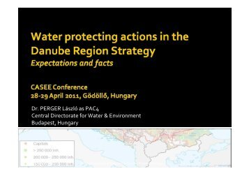 Water Protecting Actions in the Danube Region Strategy