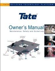 Owners Manual - Tate Access Floors
