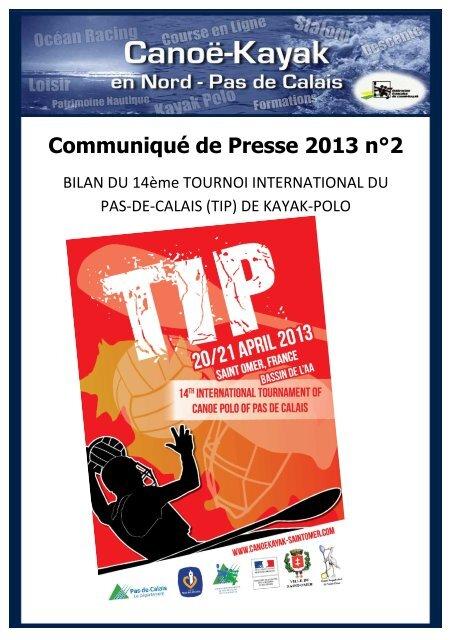 Communiqué n°2-Résultats du TIP 2013 Saint-Omer - FFCK