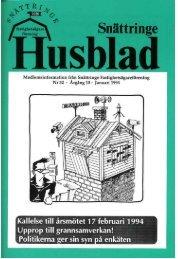 1994-1 - Snättringe fastighetsägareförening