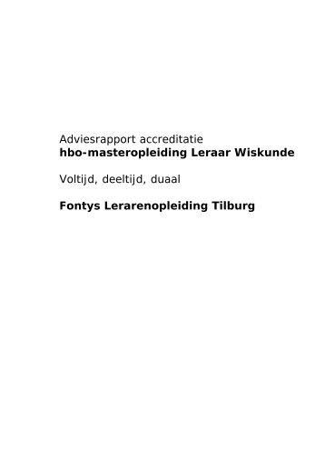rapport Fontys hbo-ma Leraar Wiskunde - NVAO