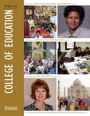 magazine - College of Education - Purdue University