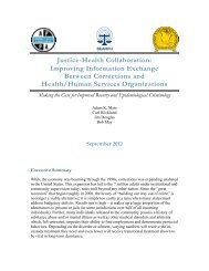 Justice-Health Collaboration: Improving Information Exchange ...