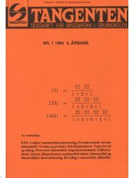 1 Tangenten - Tidsskrift for matematikkundervisning