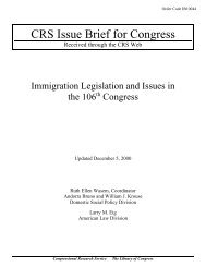 Immigration Legislation and Issues in the 106th Congress - PARDS