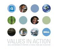 DELL SUSTAINABILITY REPORT FISCAL YEAR 2007 IN REVIEW