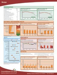 Kenya Health Data—2012 Profile - Countdown to 2015