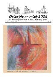 Osterpfarrbrief 2009 - Pfarreiengemeinschaft St. Goar