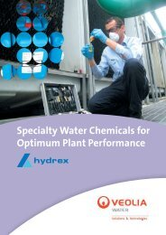 Hydrex ® Specialty Water Chemical brochure - Veolia Water ...