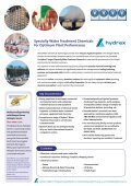 Hydrex ® Specialty Water Chemical brochure - Veolia Water ... - Page 2