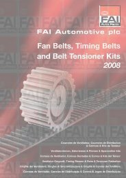 Fan Belts, Timing Belts And Belt Tensioner Kits