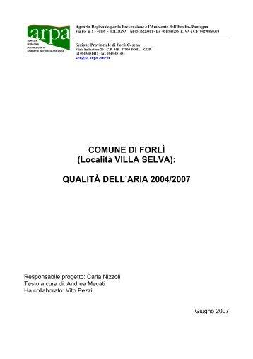 loc. Villa Selva - Provincia di Forlì-Cesena