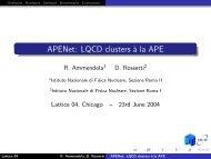 APENet: LQCD clusters à la APE