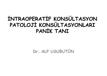 intraoperatif konsültasyon