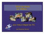Gérer sa classe par ateliers… - RÉCIT de la Commission scolaire de ...