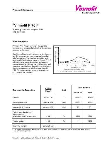 Vinnolit P 70 F englisch