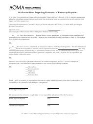 Notification Form Regarding Evaluation of Patient by Physician