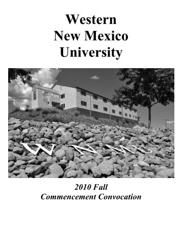 Fall 2010 Commencement Program - Western New Mexico University