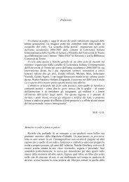 Prefazione Il volume raccoglie i saggi di alcuni dei poeti ... - CIRCE