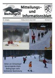 Bisher am Ochsenkopf hervorragende Alpin- Bedingungen dank ...