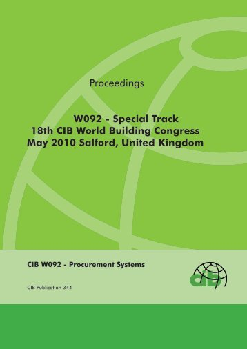 Proceedings W092 - Special Track 18th CIB World ... - Test Input