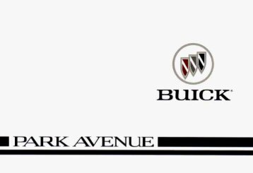 1996 Buick Park Avenue Owner's Manual