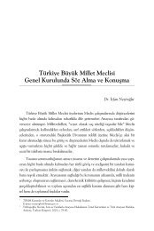 Türkiye Büyük Millet Meclisi Genel Kurulunda ... - Yasama Derneği
