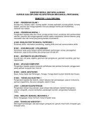 SINOPSIS MODUL (MATAPELAJARAN) KURSUS SIJIL/DIPLOMA ...