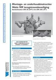 Montage- en onderhoudsinstruc ties Watts 909 ... - Watts Industries