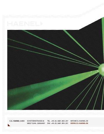 cg haenel gmbh schützenstrasse 26 info@cg-haenel.de ... - Ardesa