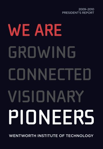 Pioneering - Wentworth Institute of Technology