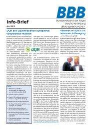 BBB-Info-Brief, Ausgabe 06/13 - Bundesverband der Träger ...