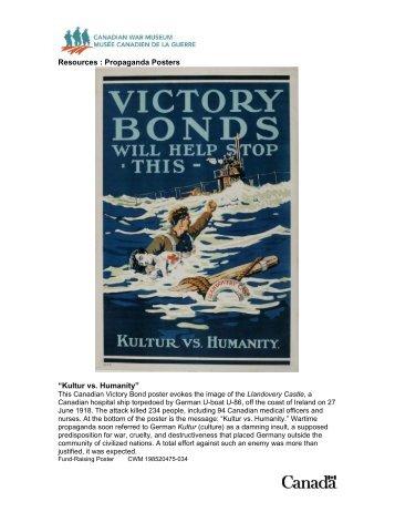Propaganda Posters - Canadian War Museum